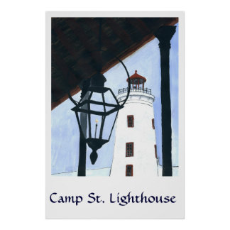 Camp Street Light House Poster