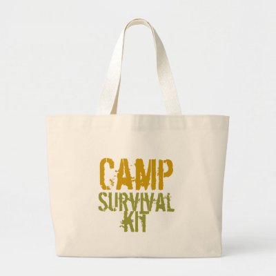 Camp Survival Kit - Tote Bag by creatingmybestlife