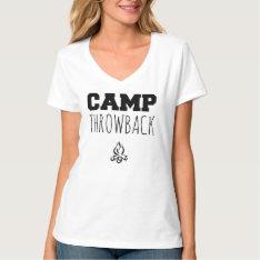 Camp Throwback Women's V-neck T-shirt at Zazzle