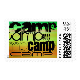 Camp; Vibrant Green, Orange, & Yellow Postage