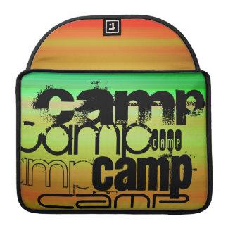 Camp; Vibrant Green, Orange, & Yellow Sleeve For MacBooks