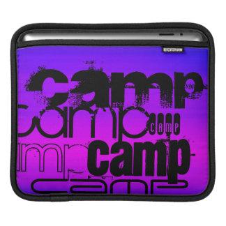 Camp; Vibrant Violet Blue and Magenta. iPad Sleeve
