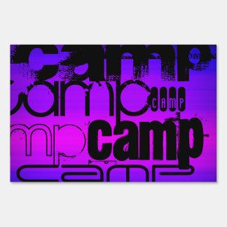 Camp; Vibrant Violet Blue and Magenta. Sign