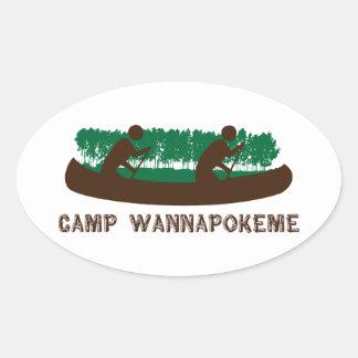Camp Wannapokeme Oval Sticker