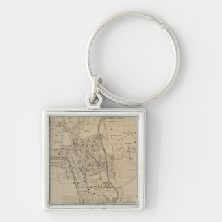 Camp Washington, Clifton Heights, Ohio Silver-Colored Square Keychain