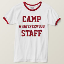 Camp Whateverwood Staff Dark Red T-Shirt