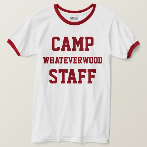 Camp Whateverwood Staff Dark Red T_Shirt