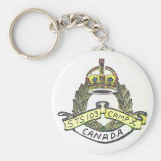 Camp-X Crest Keychain