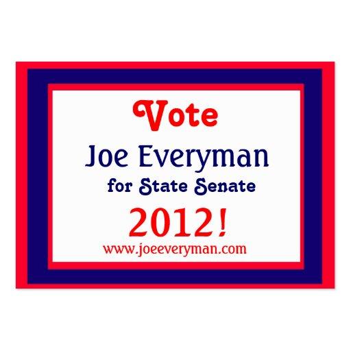 Campaign Candidate 2012 Calendar Card Business Card Template