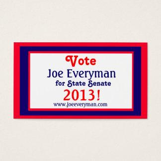 Campaign Candidate 2013 Calendar Wallet Card Std