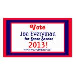 Campaign Candidate 2013 Calendar Wallet Card Std Business Card