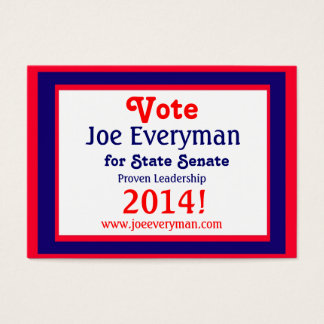 Campaign Candidate 2014 Calendar Wallet Card
