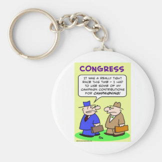campaign contributions tight race basic round button keychain