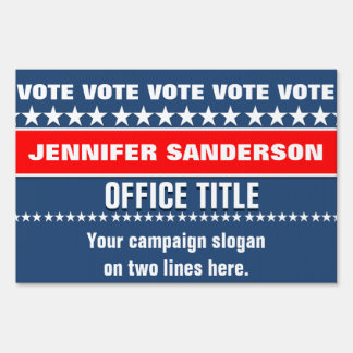Campaign Election Template Lawn Sign