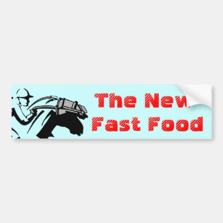 Campaign Fast Food Race Horse Slaughter Horses Bumper Sticker