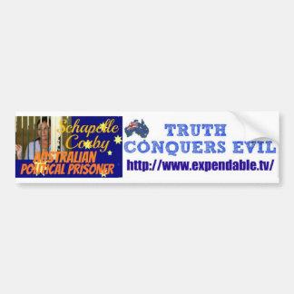 Campaign for injustice car bumper sticker