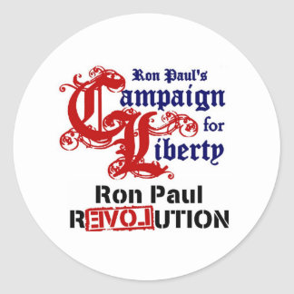 Campaign For Liberty Ron Paul Classic Round Sticker