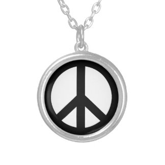 Campaign for Nuclear Disarmament Symbol Round Pendant Necklace