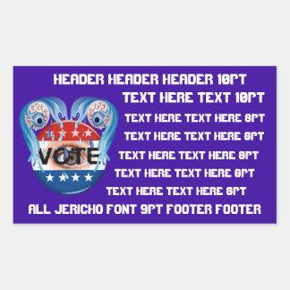 Campaign Fundraiser Sticker Rectangle 50 Colors