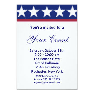 Campaign Party Invitation Or 4th Of July Party at Zazzle