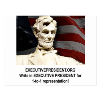 Campaign shirt postcard