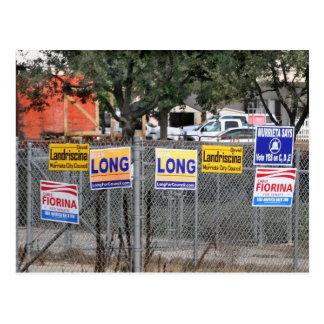 Campaign Signs in Murrieta, CA Postcard