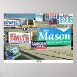 Campaign Signs, Las Vegas Print