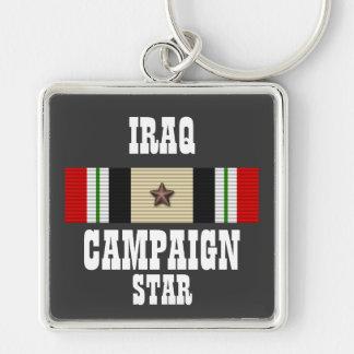 CAMPAIGN STAR / IRAQ VETERAN / KEY CHAIN