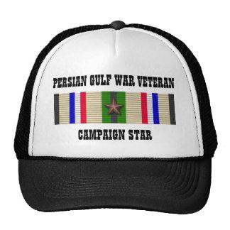 CAMPAIGN STAR / PERSIAN GULF WAR VETERAN TRUCKER HAT