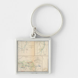 Campaign Sterling Price Silver-Colored Square Keychain