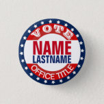 "Campaign Template Custom Button<br><div class=""desc"">Customize this campaign button template for elections. Makes a great gift for voters,  campaign contributors,  politicians,  volunteers,  memorabilia and more! See more at zazzle.com/CampaignHeadquarters or http://CampaignOutlet.com</div>"