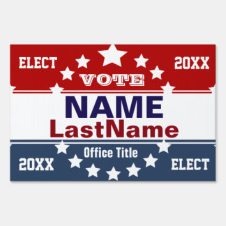 Campaign Template Customize Lawn Sign