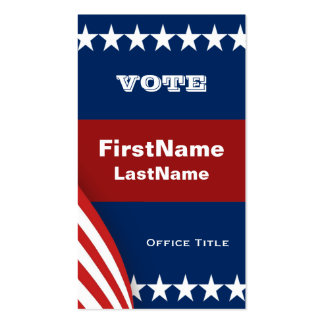 Campaign Template Double-Sided Standard Business Cards (Pack Of 100)