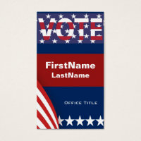 Campaign Template Stars Business Card