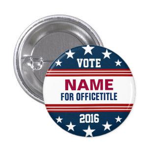 Campaign Template Stars Stripes Pinback Button