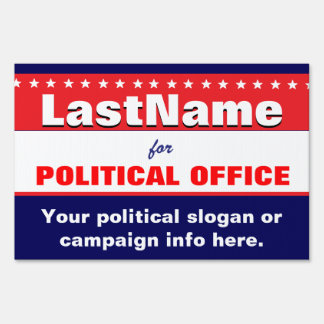 Campaign Template Yard Sign