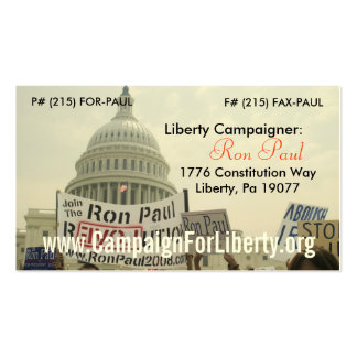 Campaigner Card! Double-Sided Standard Business Cards (Pack Of 100)