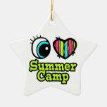 Campamento de verano brillante del amor del corazó ornato