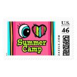 Campamento de verano brillante del amor del corazó franqueo