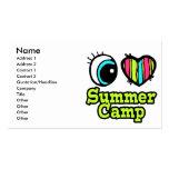 Campamento de verano brillante del amor del corazó plantillas de tarjetas de visita