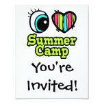 Campamento de verano brillante del amor del comunicados