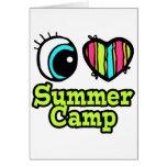 Campamento de verano brillante del amor del tarjeta de felicitación