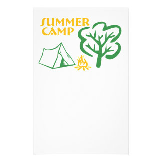 "Campamento de verano folleto 5.5"" x 8.5"""