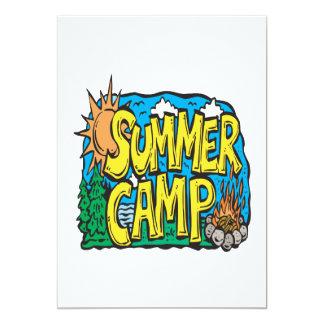 """Campamento de verano invitación 5"""" x 7"""""""