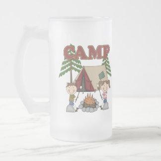 Campamento de verano jarra de cerveza esmerilada