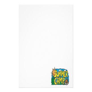 Campamento de verano papeleria de diseño