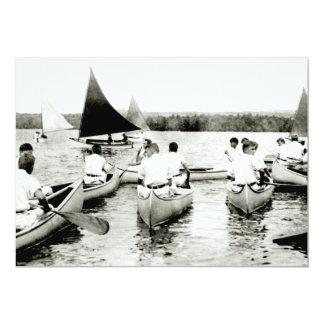 """Campamento de verano para hombre joven 1925 invitación 5"""" x 7"""""""