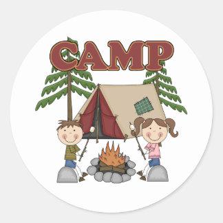 Campamento de verano pegatinas