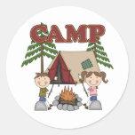 Campamento de verano pegatinas redondas
