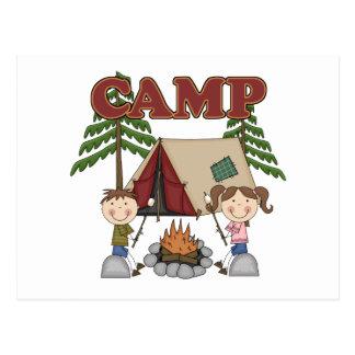 Campamento de verano postal